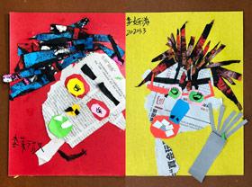 戴3D眼睛-儿童画基础A班-2020年1月3日 ◆秋季班/高峰店◆ 新起点画苑-学生作品