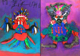 黏土怪物-儿童画创想班-2020年1月4日 ◆秋季班/高峰店◆ 新起点画苑-学生作品