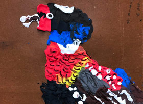 黏土锦鸡-儿童画大师A班-2020年1月3日 ◆秋季班/高峰店◆ 新起点画苑-学生作品