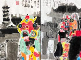 舞麒麟-国画培优班-2020年1月11日 ◆秋季班/高峰店◆ 新起点画苑-学生作品