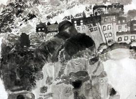 水墨人物-国画大师班-2020年1月11日 ◆秋季班/高峰店◆ 新起点画苑-学生作品