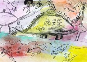 恐龙-儿童画基础B班-2020年1月11日 ◆秋季班/高峰店◆ 新起点画苑-学生作品