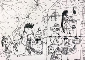 期末考试-儿童画创想班-2020年1月11日 ◆秋季班/高峰店◆ 新起点画苑-学生作品