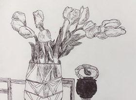 速写/儿童画B班-2020年1月14日 ★寒假班/考级培训★ 新起点画苑-学生作品