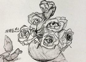 速写/儿童画班(补课)-2020年1月15日 ★寒假班/考级培训★ 新起点画苑-学生作品