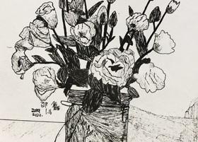 速写/儿童画B班-2020年1月16日 ★寒假班/考级培训★ 新起点画苑-学生作品