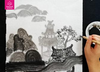 第一节:水墨画课/墨色的运用(国画教程)-新起点画苑/2020年2月22日