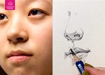 第二节:人物的鼻、嘴、耳朵/速写(素描教程)-新起点画苑/2020年2月29日