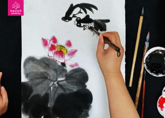 第四节:荷花(国画教程)-新起点画苑/2020年3月14日