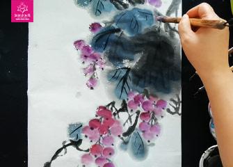 第七节:葡萄(国画教程)-新起点画苑/2020年4月4日