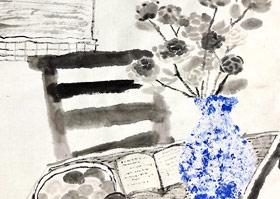 窗台花瓶-国画大师班-2020年5月30日◆春季班◆新起点画苑-学生