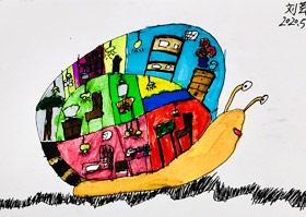 行走的房子-儿童画基础A班-2020年5月29日◆春季班◆新起点画苑