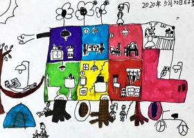 行走的房子-儿童画基础B班-2020年5月30日◆春季班◆新起点画苑