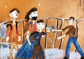 上学量体温-儿童画创想班-2020年5月30日◆春季班◆新起点画苑-