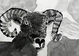山羊-国画培优班-2020年6月6日◆春季班◆新起点画苑-学生作品