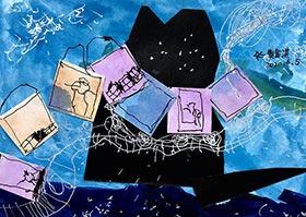 小火车过山坡-儿童画启智班-2020年6月5日◆春季班◆新起点画苑-学生作品