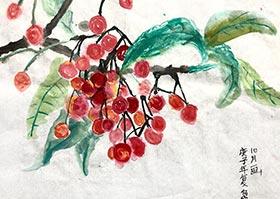 樱桃-国画培优班-2020年6月13日◆春季班◆新起点画苑-学生作品
