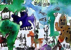 魔幻森林救援-儿童画基础B班2020年6月13日◆春季班◆新起点画苑-学生作品
