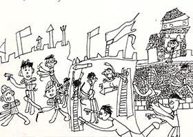 攻城-儿童画创想班-2020年6月13日◆春季班◆新起点画苑-学生作品