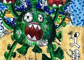 病毒怪兽-儿童画大师A班-2020年6月12日◆春季班◆新起点画苑-学生作品