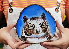 圆木花鸟画-国画大师班-2020年6月20日◆春季班◆新起点画苑-学生作品