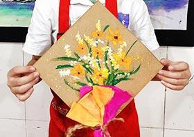 送给爸爸的花-儿童画基础A班2020年6月19日◆春季班◆新起点画苑-学生作品