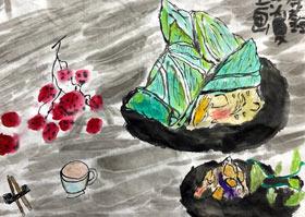 粽子-国画培优班-2020年6月27日◆春季班◆新起点画苑-学生作品