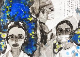 风雪战疫人-国画大师班-2020年6月27日◆春季班◆新起点画苑-学生作品