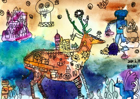 动物创想-儿童画大师A班-2020年6月24日◆春季班◆新起点画苑-学生作品