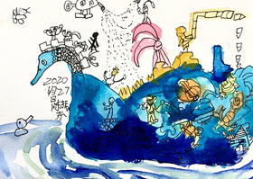 动物创想-儿童画大师B班-2020年6月27日◆春季班◆新起点画苑-学生作品